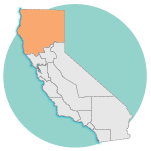 graphic image of california, Norcal region