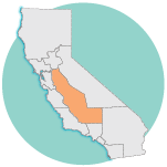 graphic image of california, San Joaquin Valley