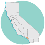 graphic image of california, Orange County