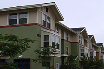 Photo of apartment buildings